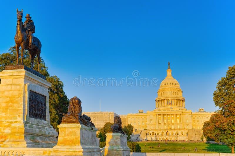 Capitol de Washington, Etats-Unis, Etats-Unis, Ulysse S Grant Memoria photographie stock libre de droits