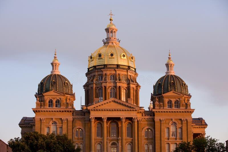 Capitol della condizione dello Iowa fotografie stock libere da diritti