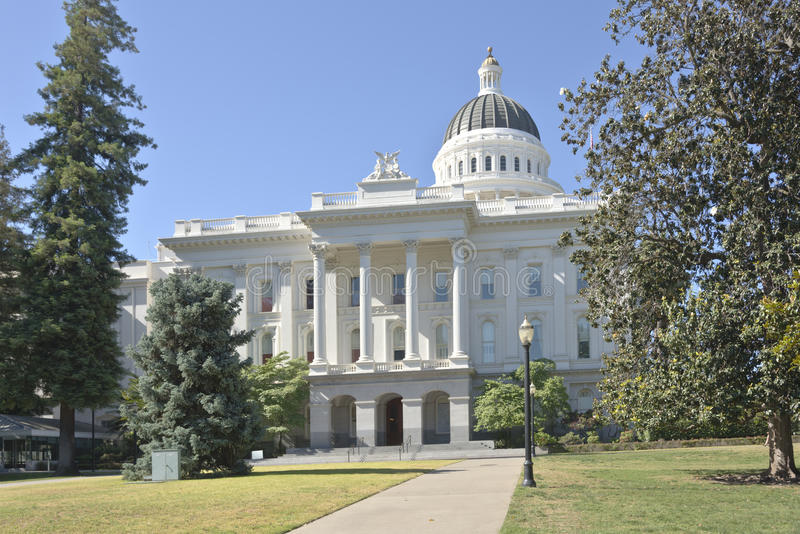 Capitol dello stato di Sacramento e parco California fotografia stock