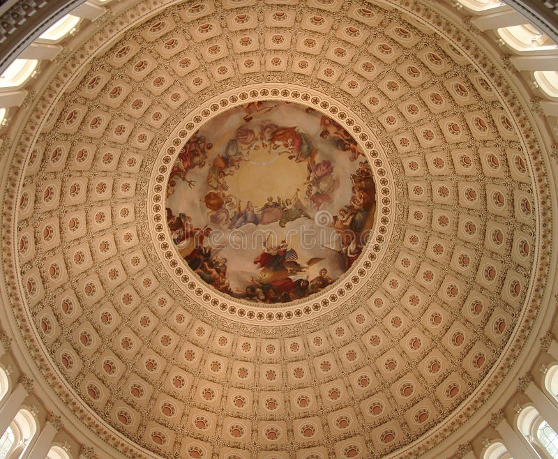 Capitol des USA rotunda photographie stock