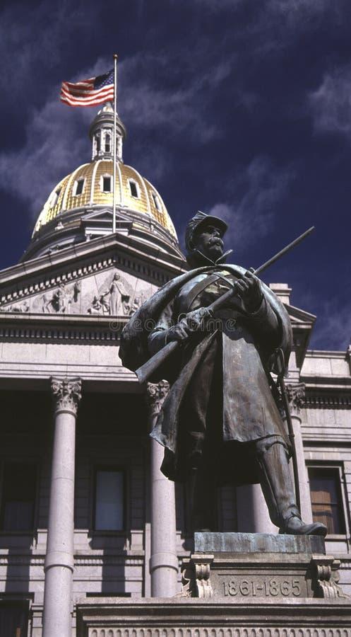 Capitol die van Denver, Staat Denver Colorado.USA bouwt royalty-vrije stock afbeelding