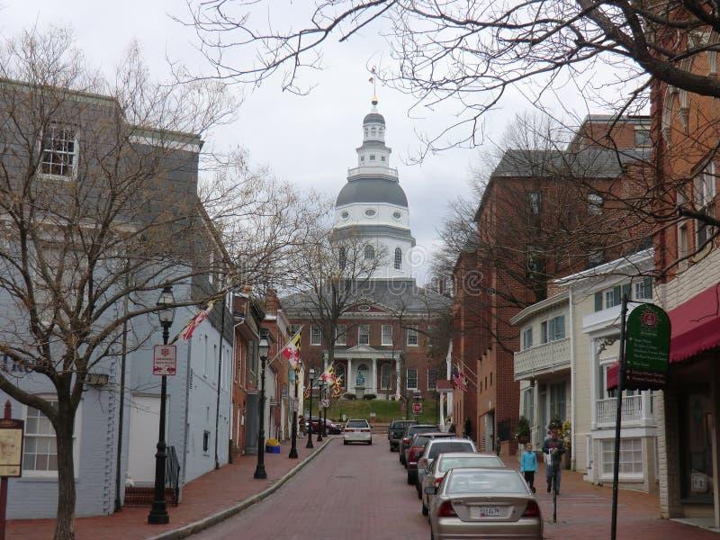Capitol do estado de Annapolis imagens de stock