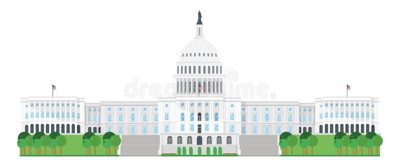 Capitol dom, washington dc, usa również zwrócić corel ilustracji wektora royalty ilustracja