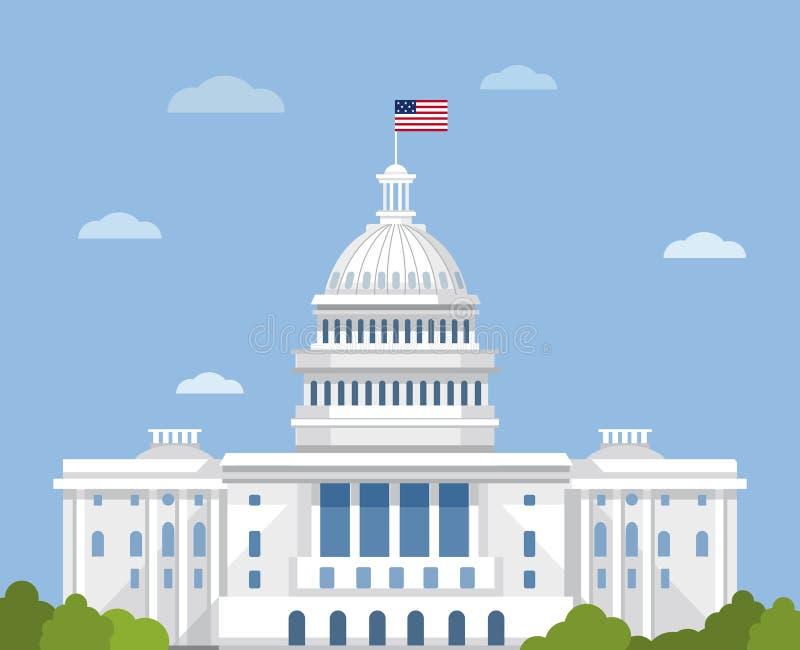 capitol gelijkstroom Amerika vector illustratie
