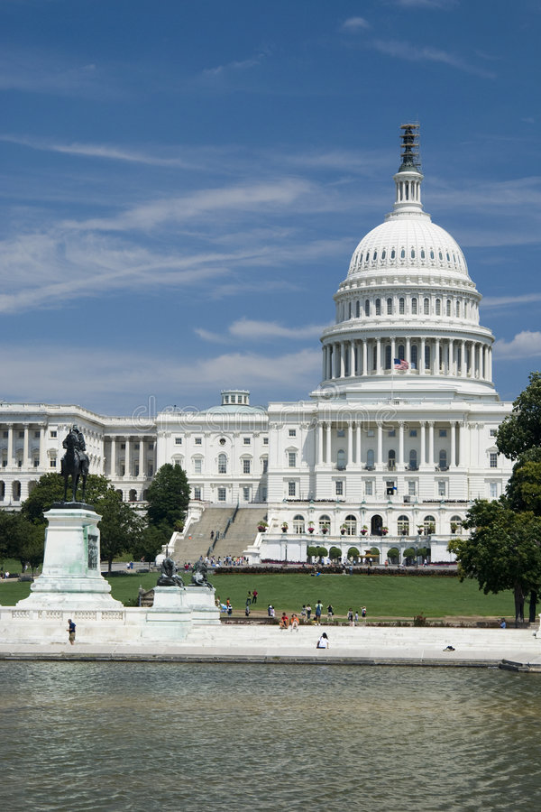 The Capitol Hill royalty free stock photography