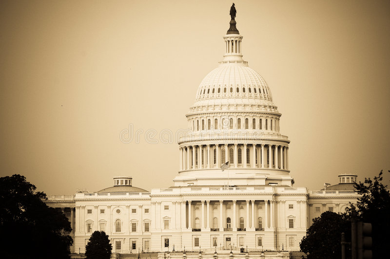 The Capitol Hill stock photo