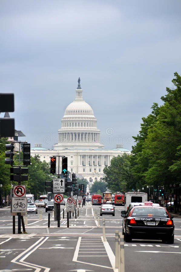 Capitol Hill bij Washington DC royalty-vrije stock fotografie