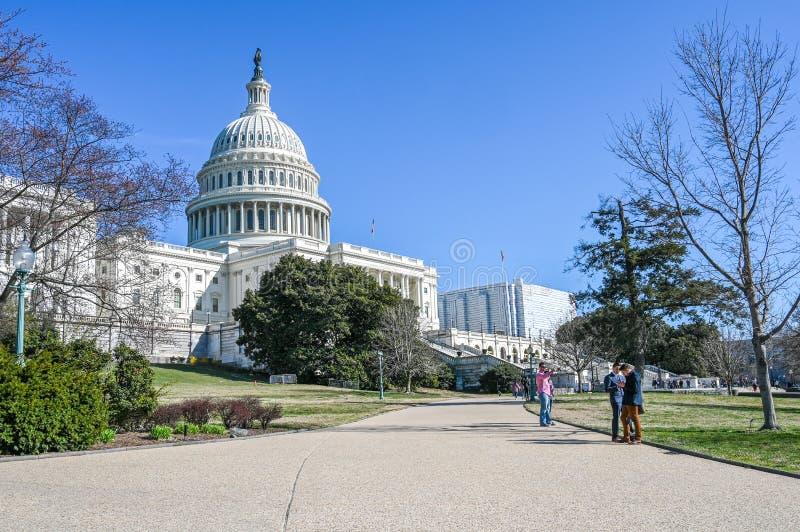 Capitol Hill en Washington DC foto de archivo