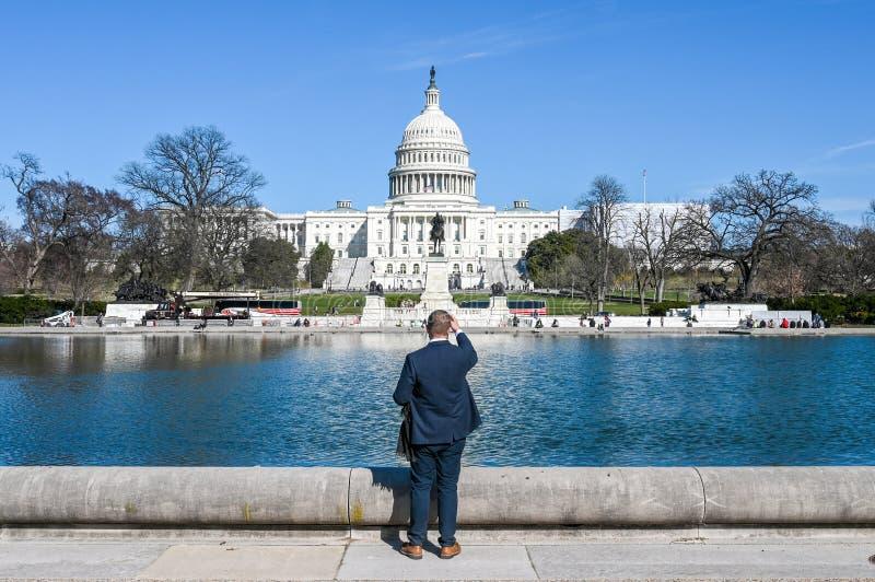 Capitol Hill en Washington DC fotografía de archivo libre de regalías