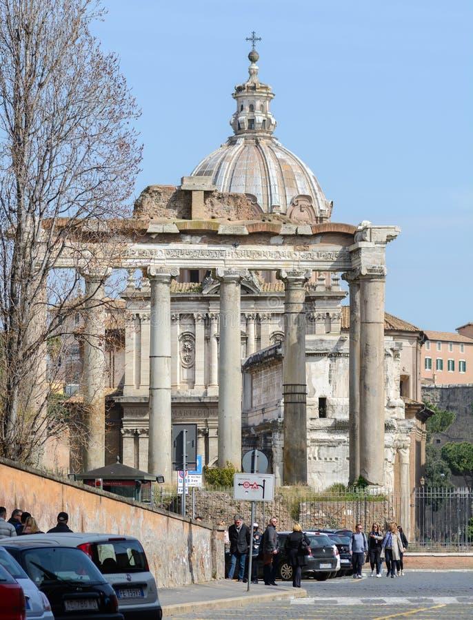 Capitol Hill rome italy 12 marsch 2017 roman sikt för fora arkivfoto