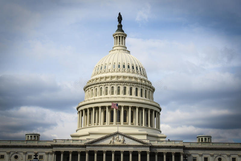 Capitol Hill in the United States. Of America stock image