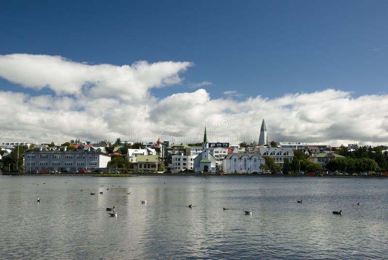capitol iceland reykjavik arkivbilder
