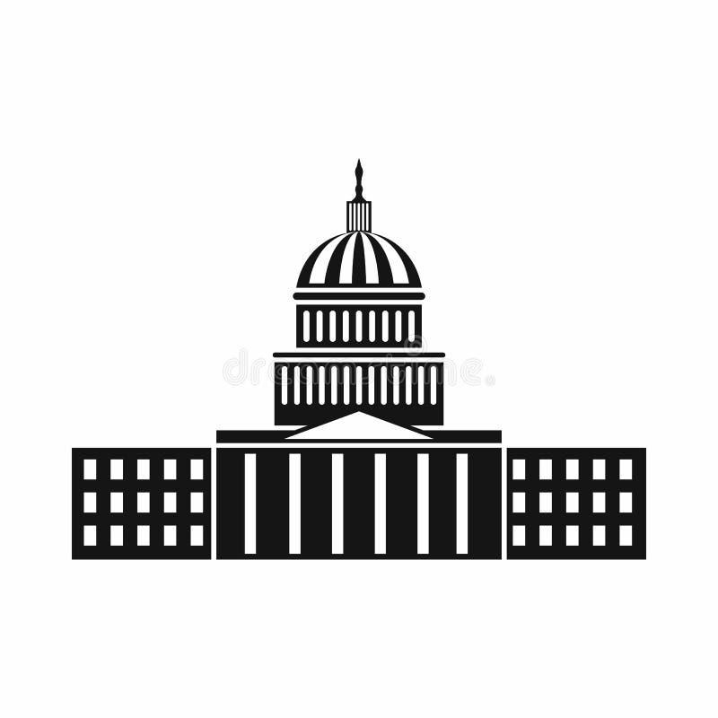 Capitol ikona, prosty styl royalty ilustracja