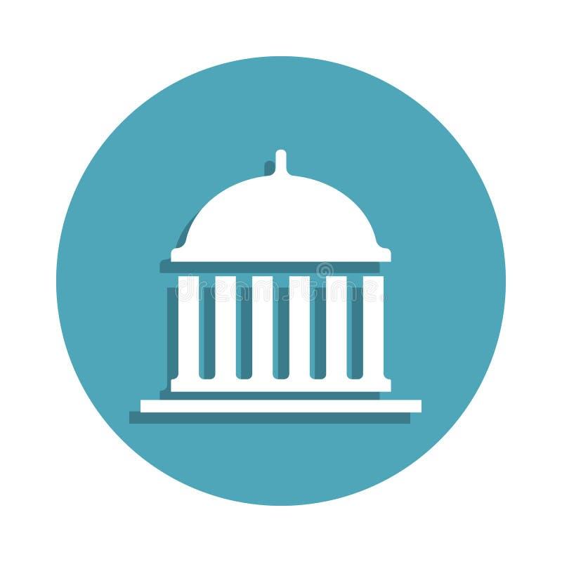 Capitol ikona w odznaka stylu Jeden wybory inkasowa ikona może używać dla UI, UX ilustracji