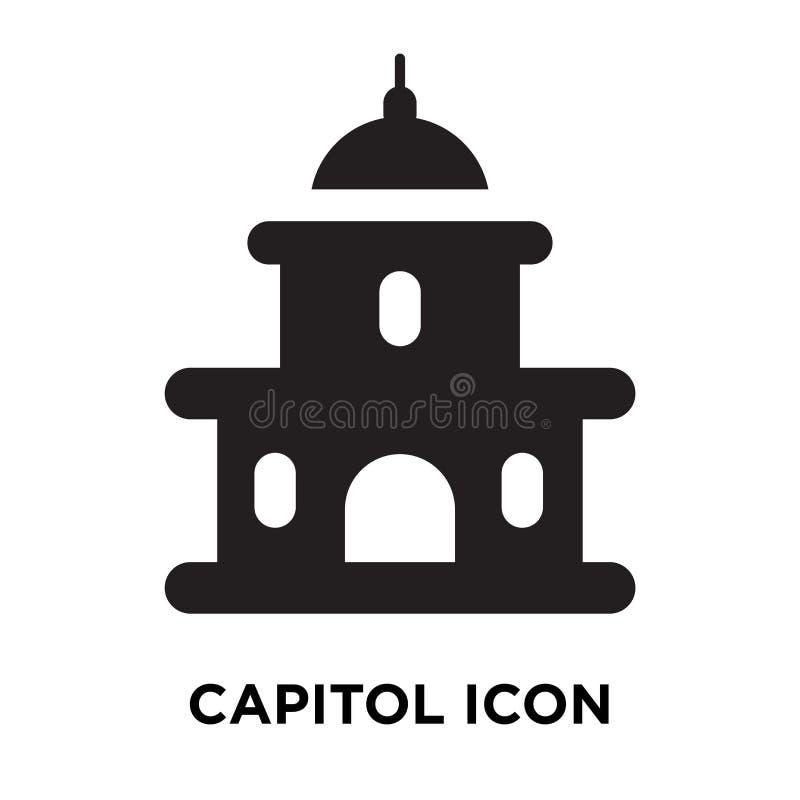 Capitol ikony wektor odizolowywający na białym tle, loga pojęcie o royalty ilustracja