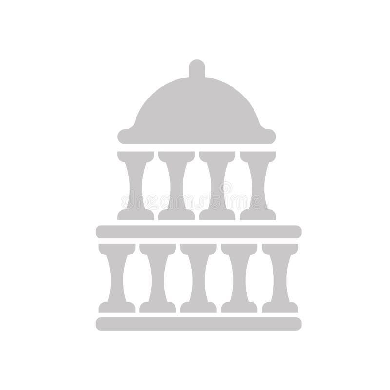 Capitol ikony wektoru znak i symbol odizolowywający na białym tle ilustracja wektor