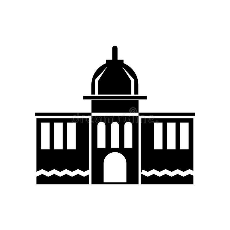 Capitol ikony wektoru znak i symbol odizolowywający na białym tle, Capitol logo pojęcie royalty ilustracja