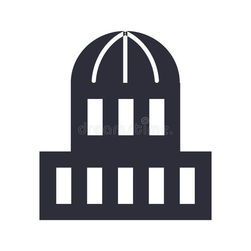 Capitol ikony znak i symbol odizolowywający na białym tle, Capitol logo pojęcie ilustracja wektor