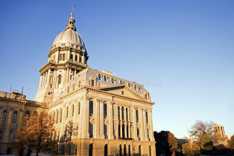 capitol Illinois Springfield stan obrazy royalty free