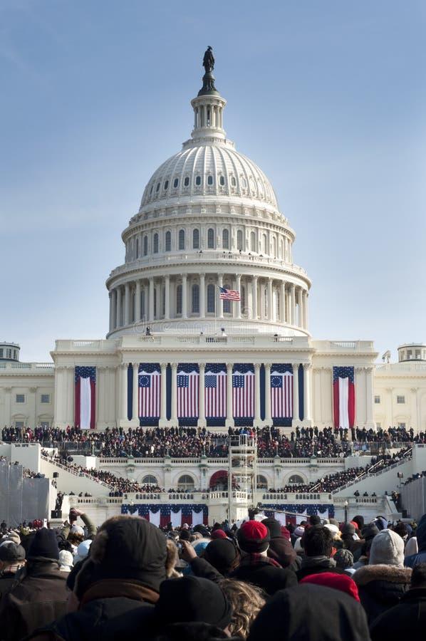 capitol inauguracja s u zdjęcia stock