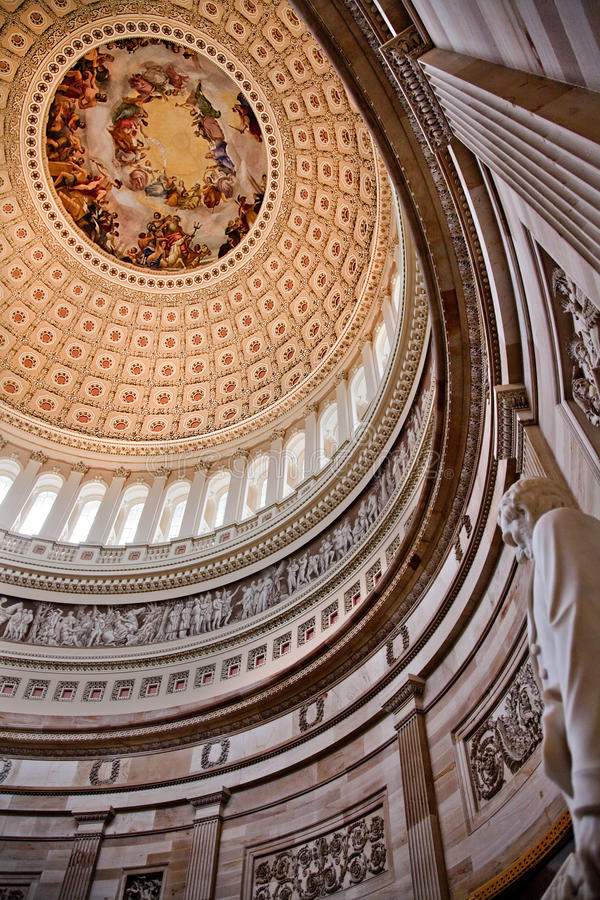 capitol kopuły Lincoln rotundy statua my Washington obraz royalty free