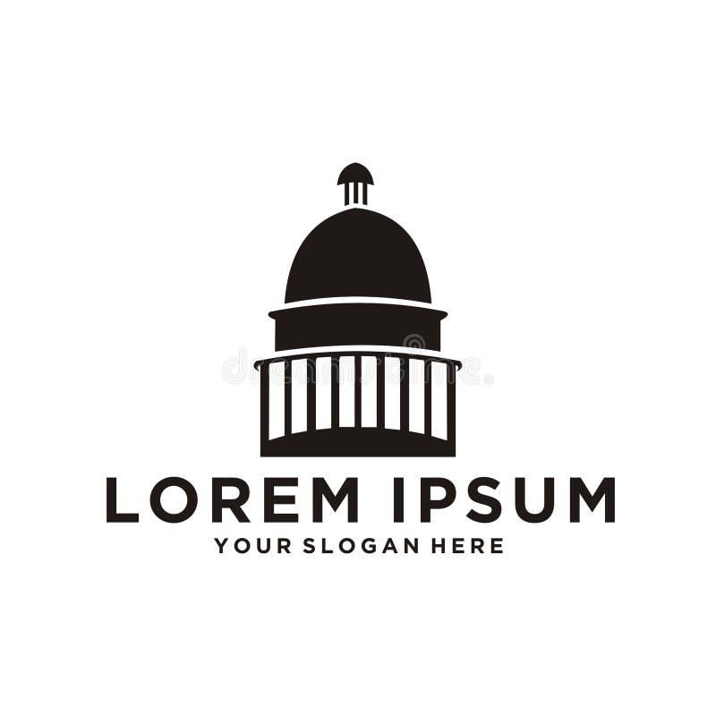 Capitol kopuły logo ilustracja wektor