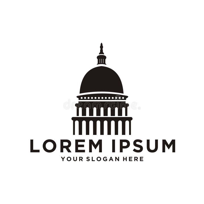 Capitol kopuły logo royalty ilustracja