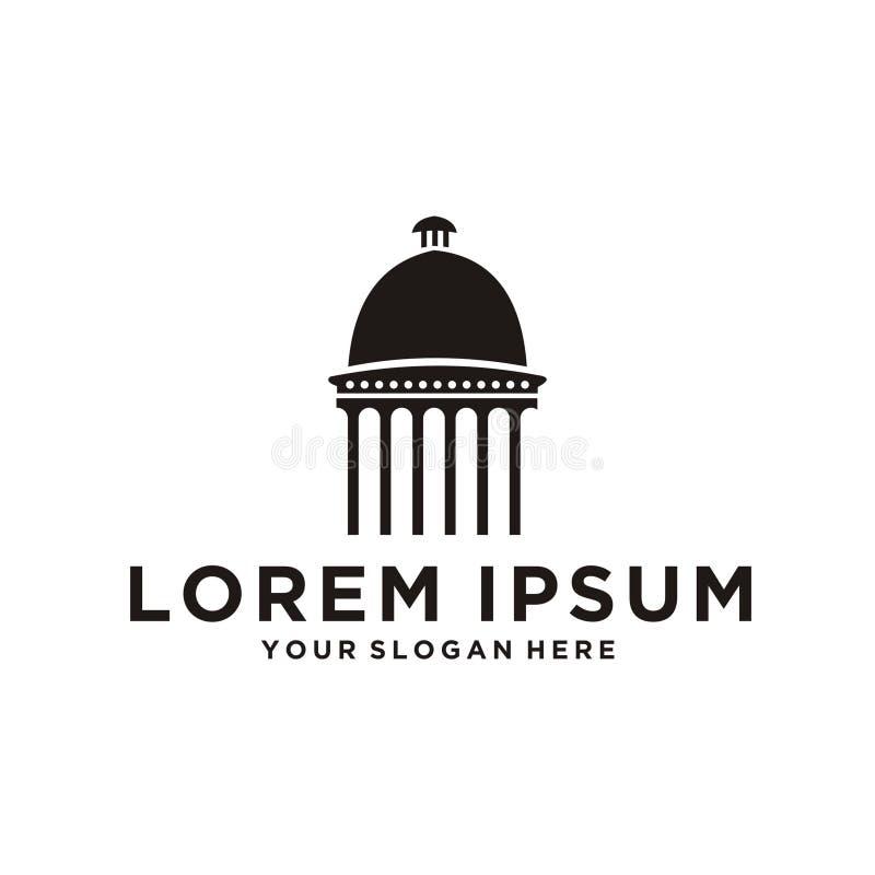 Capitol kopuły logo ilustracji