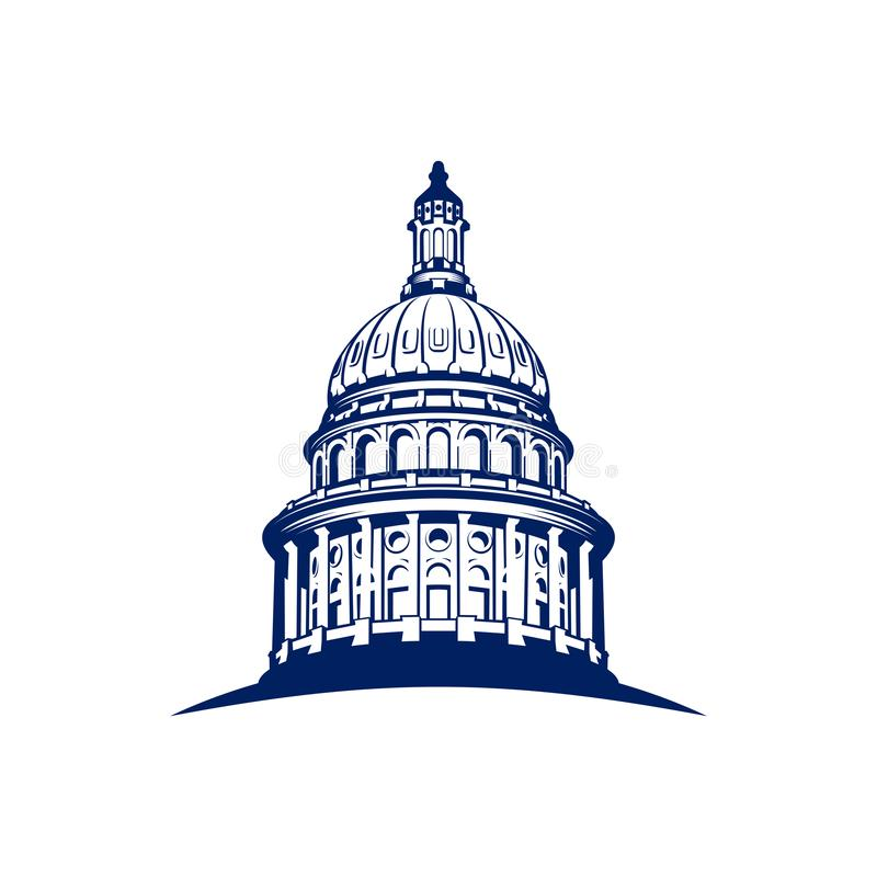 Capitol kopuły logo projekta inspiracja - Kapitałowa logo projekta inspiracja ilustracji