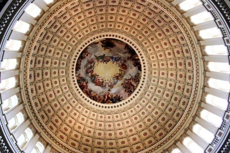 capitol kopuły wnętrze s u fotografia stock