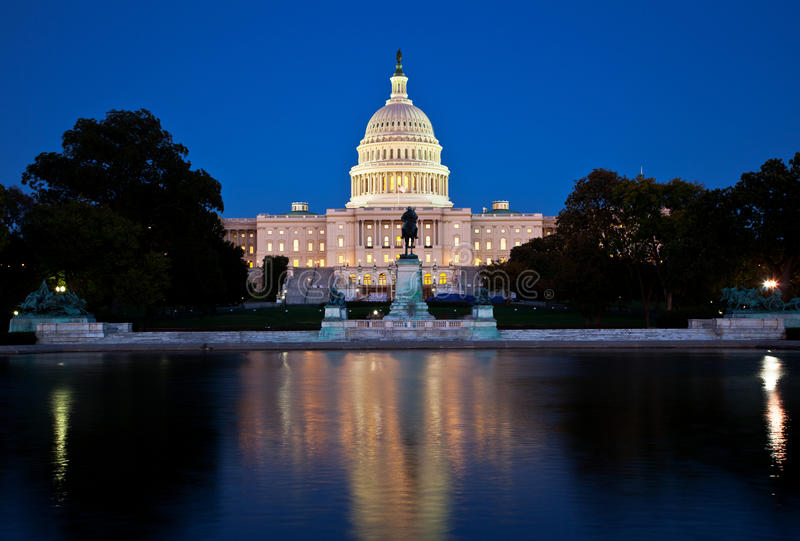 Download The Capitol at night stock image. Image of monument, dark - 27154385