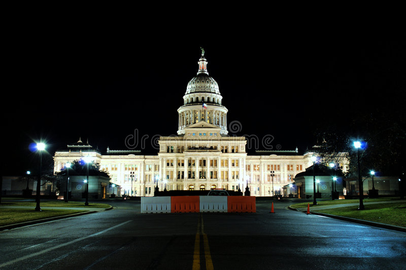 capitol night state texas time στοκ εικόνες