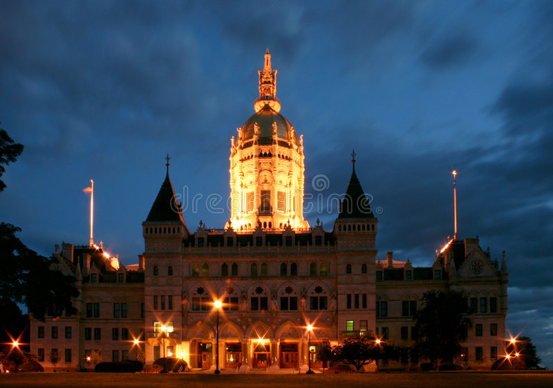 Download Capitol Nights stock photo. Image of building, dome, hartford - 3164204