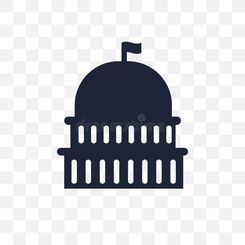 Capitol przejrzysta ikona Capitol symbolu projekt od Zlanego stat ilustracji