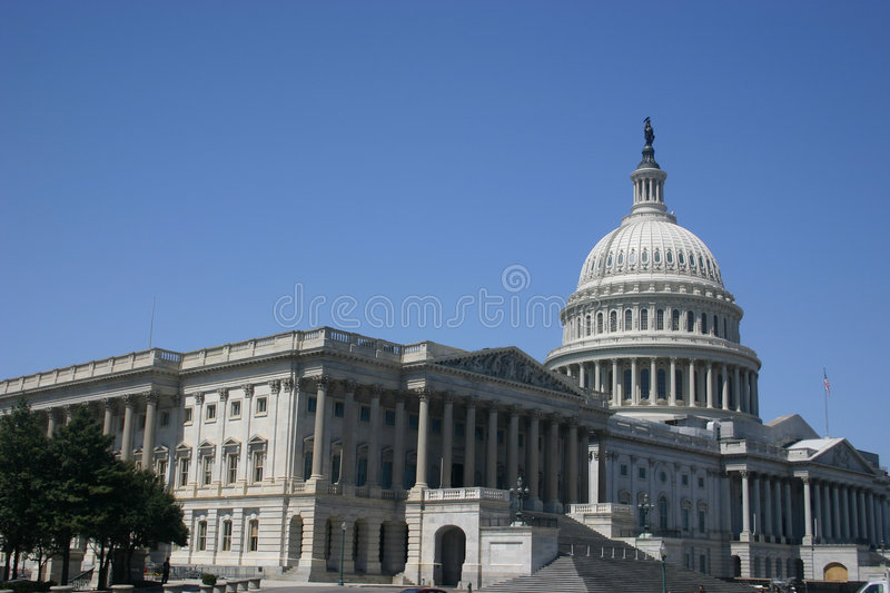 Capitol (rear angle) stock photo