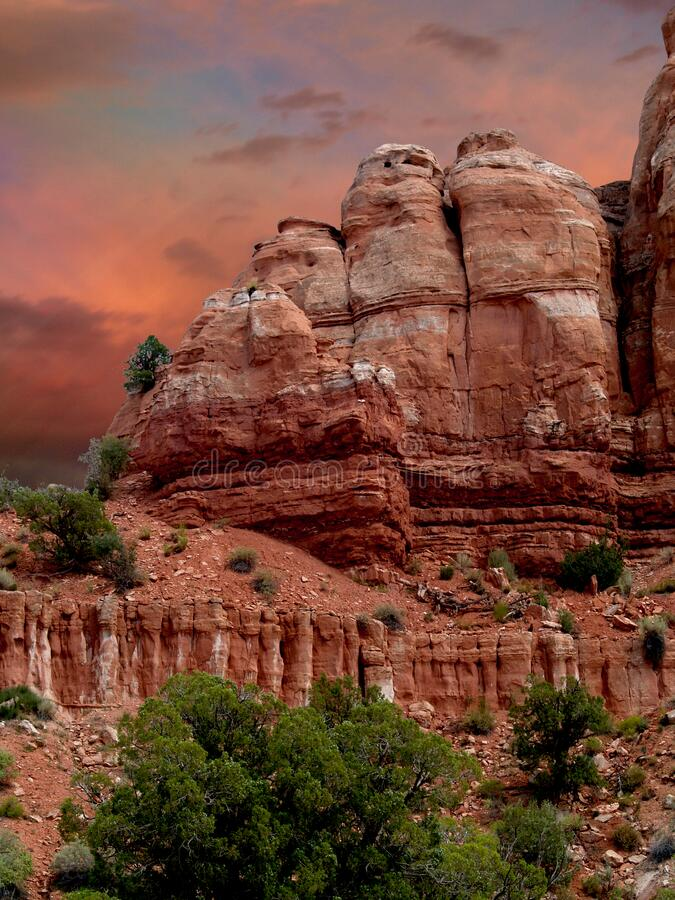 Sunset over Capitol Reef National Park stock images
