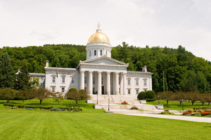 capitol stan Vermont zdjęcia stock