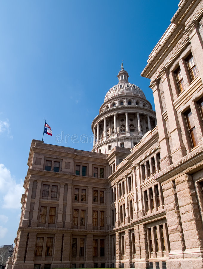 Capitol of the State of Texas Exterior stock photos