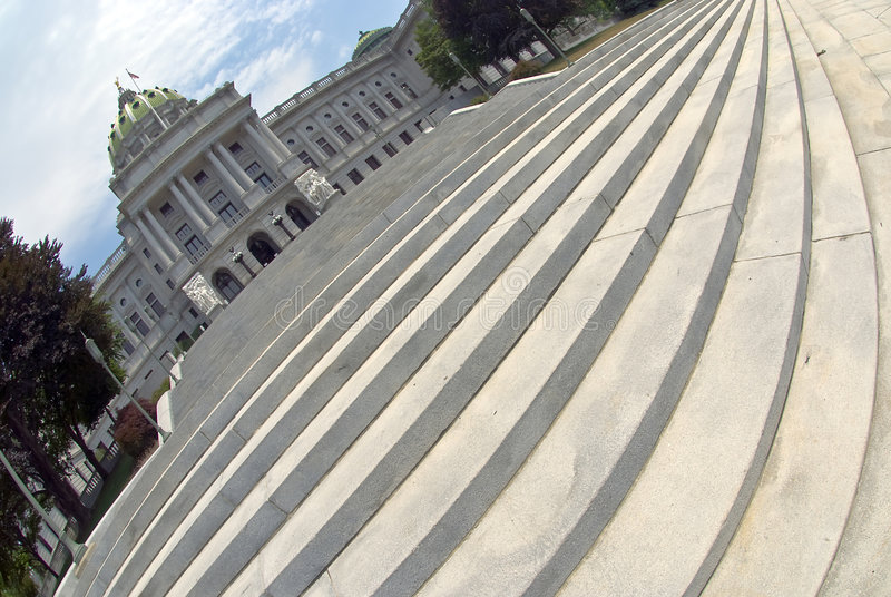 Capitol Steps, Harrisburg PA stock photography