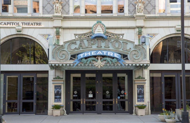 Capitol Theatre, Down Town Salt Lake City, Utah. USA stock images