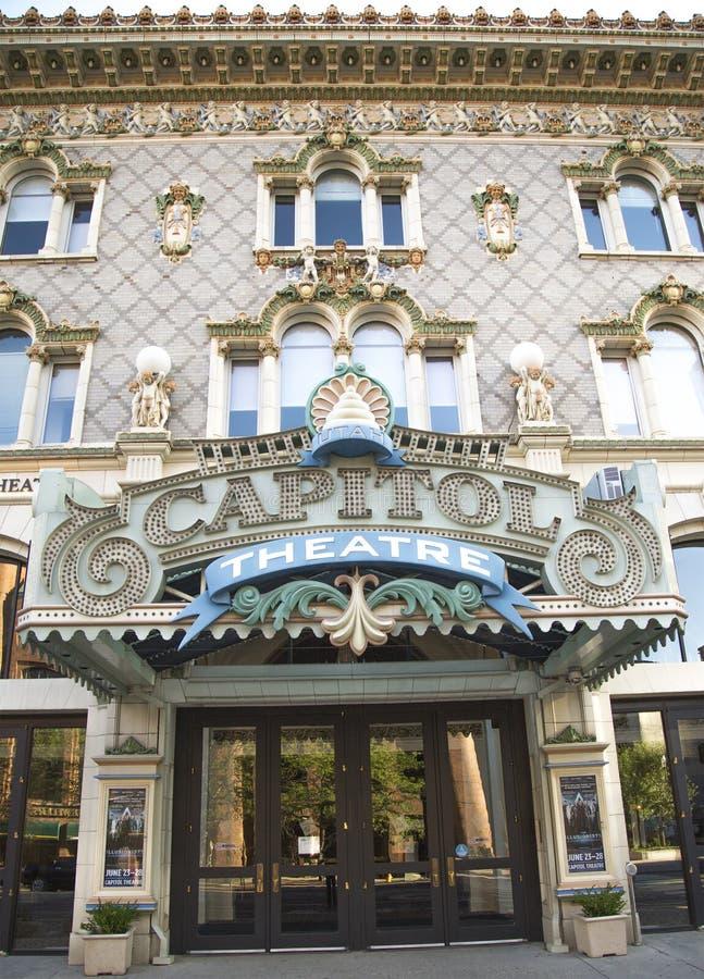 Capitol Theatre, Down Town Salt Lake City, Utah. USA royalty free stock photo