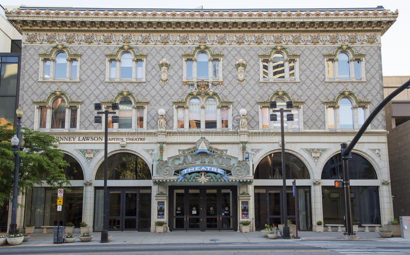 Capitol Theatre, Down Town Salt Lake City, Utah. USA royalty free stock photos
