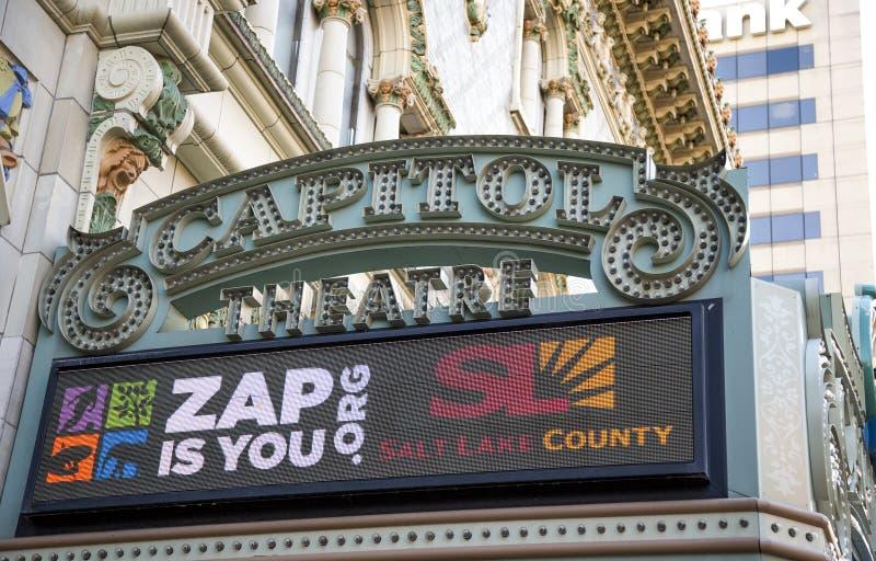 Capitol Theatre, Down Town Salt Lake City, Utah. USA royalty free stock images