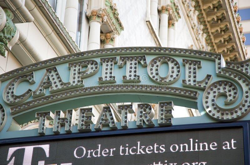 Capitol Theatre, Down Town Salt Lake City, Utah. USA stock photo