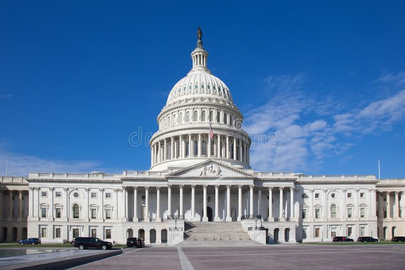 Capitol USA Building. The United States Capitol at day.United States Congress.The east front at day. Washington DC stock photos