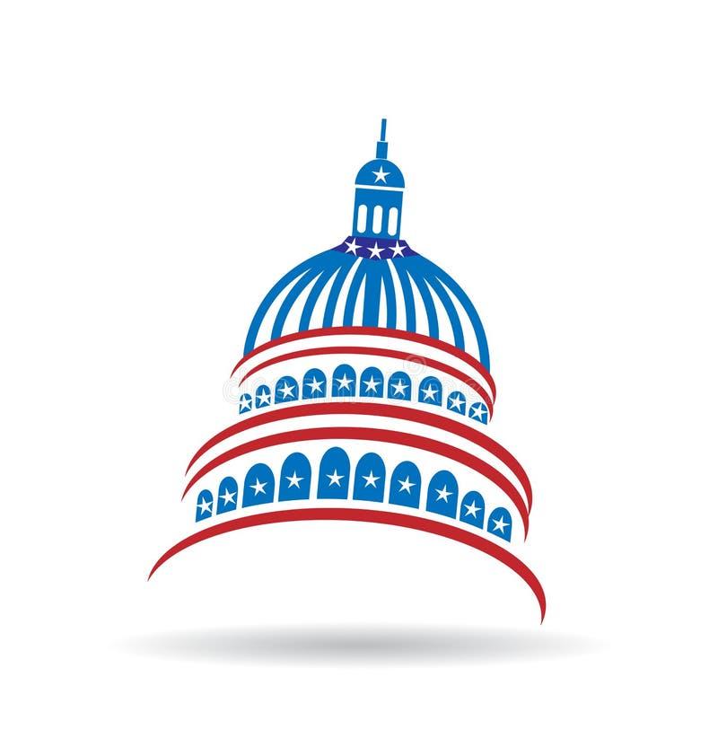 Capitol usa ikony rządowy wektor ilustracji