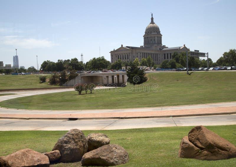 Capitol van de staat van Oklahoma in Oklaoma-stad de V.S. stock foto