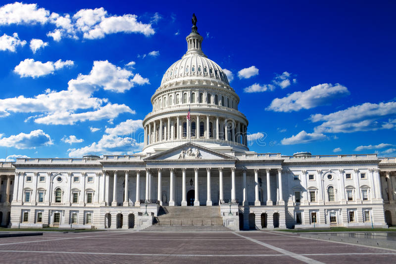 Capitol. Washington DC, US Capitol Building in a summer day royalty free stock images
