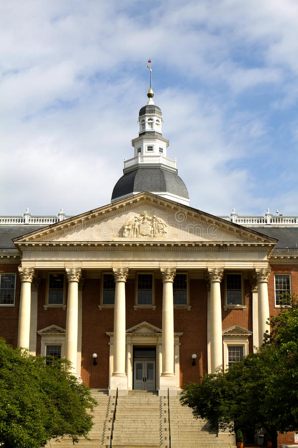 capitol wejściowy Maryland stan zdjęcie royalty free