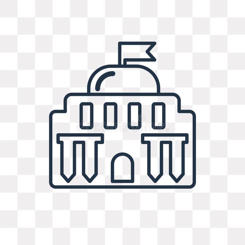 Capitol wektorowa ikona odizolowywająca na przejrzystym tle, liniowy C ilustracja wektor